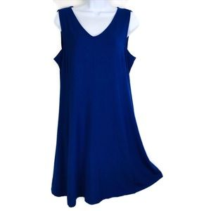 Eileen Fisher Summer Dress Sleeveless Trapeze